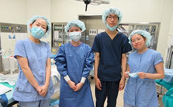手術室に入りました